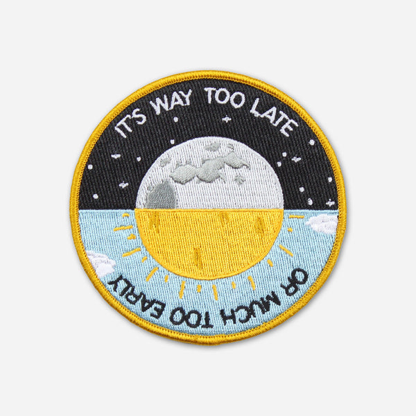 Way Too Late Patch by Owen for sale on hellomerch.com