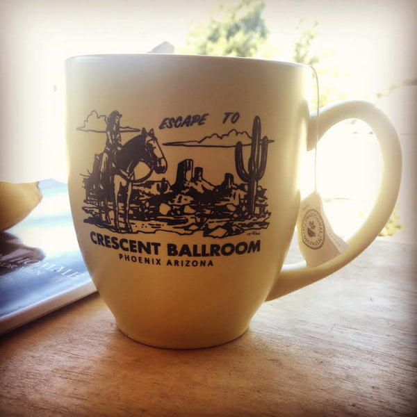 Escape to.. Coffee Mug by Crescent Ballroom for sale on hellomerch.com