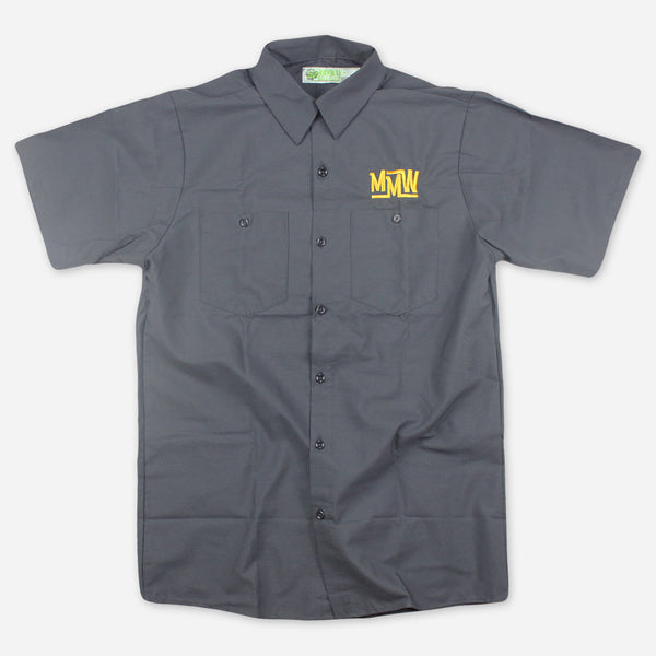 Grey Workshirt by Medeski Martin & Wood for sale on hellomerch.com