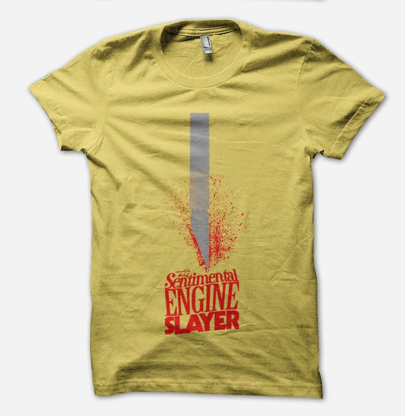 TSES Blade Yellow T-Shirt by Omar Rodriguez Lopez for sale on hellomerch.com