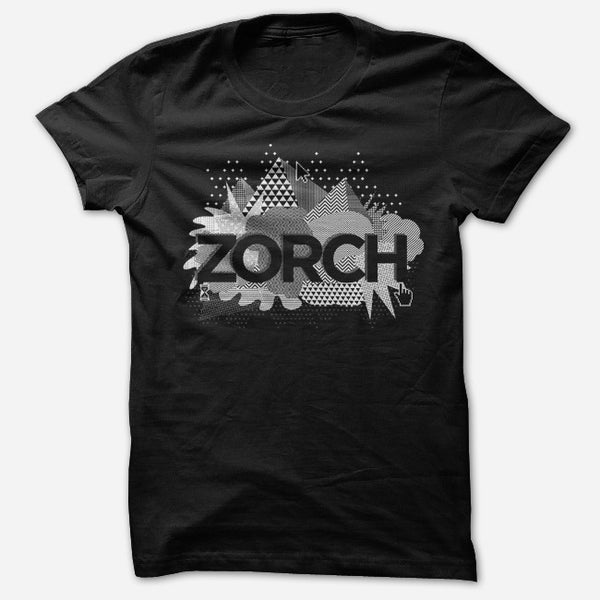 Point/Click Black T-Shirt by Zorch for sale on hellomerch.com