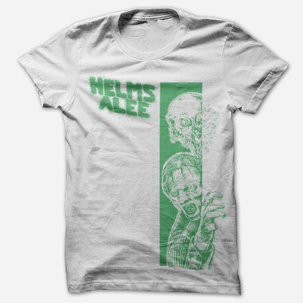 Zombie White T-Shirt by Helms Alee for sale on hellomerch.com