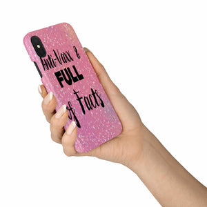 Pink Glitter Anti-Vaxx Phone Case