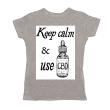 Load image into Gallery viewer, Keep Calm & Use CBD Women's T-Shirts