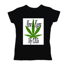 Load image into Gallery viewer, Now I Know My CBDs Women's T-Shirts