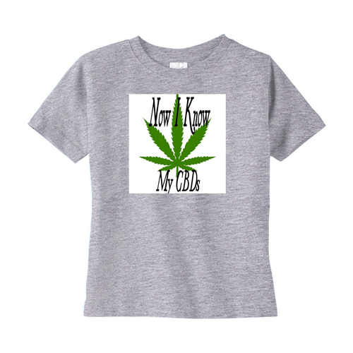Now I Know My CBDs Unisex T-Shirts (Toddler Sizes)