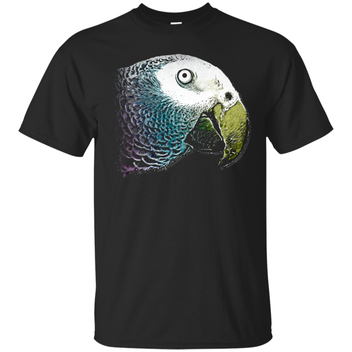 Parrot Head T-shirt Painting