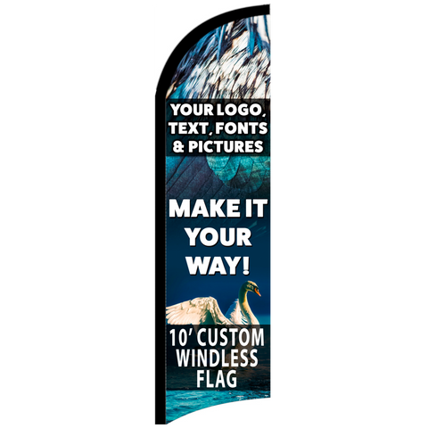 Custom Feather Flag 10 x 3 Feet