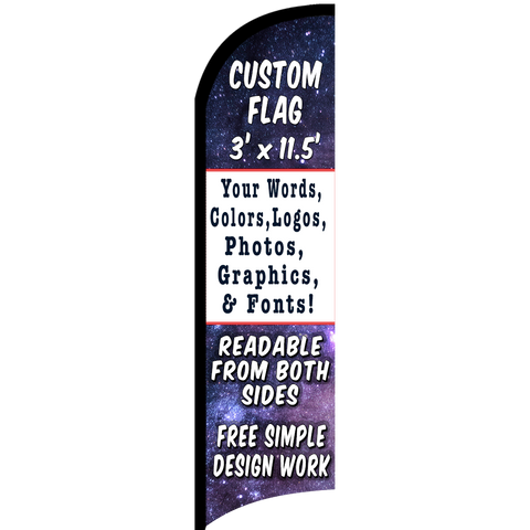 Custom Feather Flag 11.5 x 3 Feet