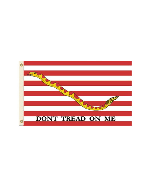 1st Navy Jack (Don't Tread on Me) 3x5 Polyester Flag