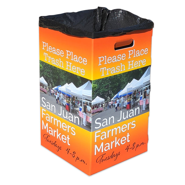 Custom Printed Trash or Recycle Bin 30 Gallon
