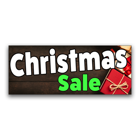"Christmas Sale Vinyl Banner Small 24"" x 60"""