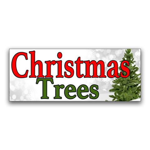 "Christmas Trees Vinyl Banner Small 24"" x 60"""