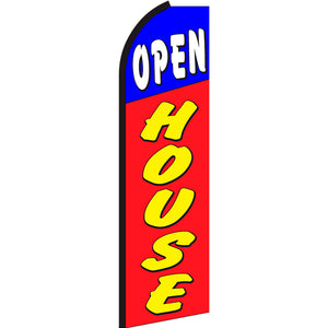 Open House Flutter Feather Banner Flag with Bundle Option (3 x 11.5 Feet)