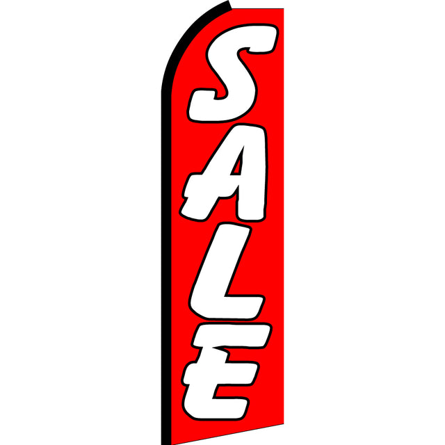 Sale Flutter Feather Banner Flag with Bundle Option (3 x 11.5 Feet)