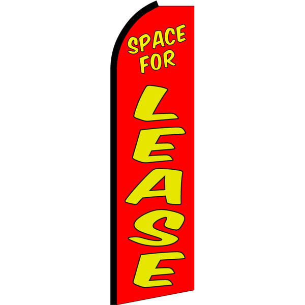 Space For Lease Flutter Feather Banner Flag with Bundle Option (3 x 11.5 Feet)