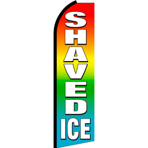 Shaved Ice (Multi-Color) Flutter Feather Banner Flag with Bundle Option (3 x 11.5 Feet)