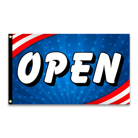 OPEN Premium 3x5 Flag (Made in the USA)