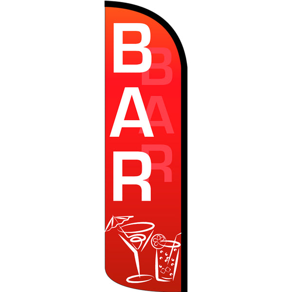 Bar Windless Polyknit Feather Flag with Bundle Option (3 x 11.5 Feet)
