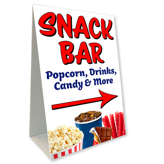"Snack Bar Economy A-Frame Sign 24"" wide by 36"" tall (Made in the USA)"