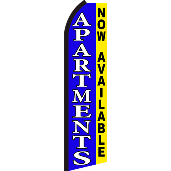 Apartments Now Available Flutter Feather Banner Flag with Bundle Option (2.5 x 11.5 Feet)