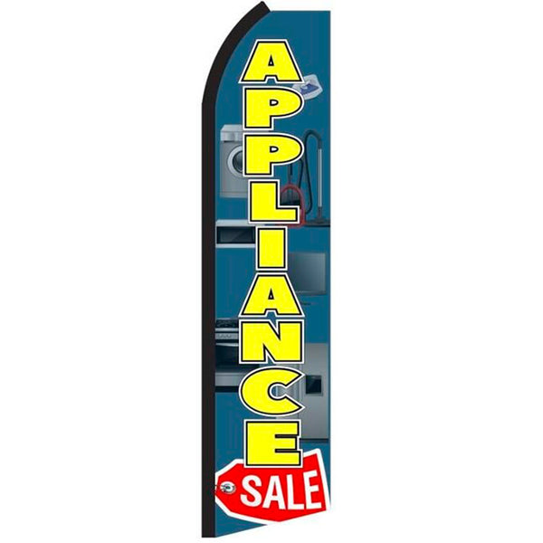Appliance Sale Flutter Feather Banner Flag with Bundle Option (3 x 11.5 Feet)