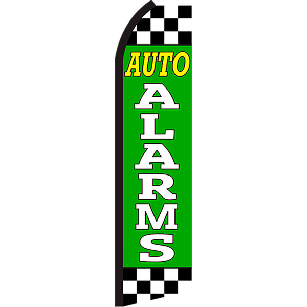 Auto Alarms Flutter Feather Banner Flag with Bundle Option (2.5 x 11.5 Feet)