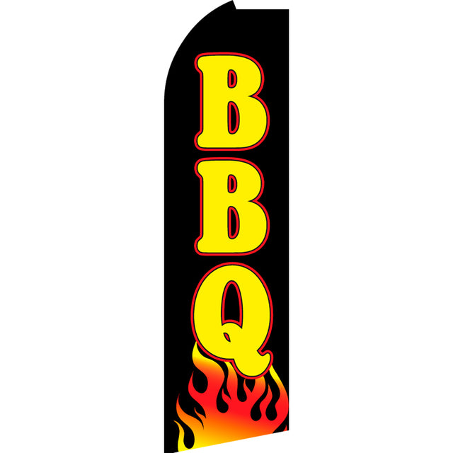 BBQ Flutter Feather Banner Flag with Bundle Option (3 x 11.5 Feet)
