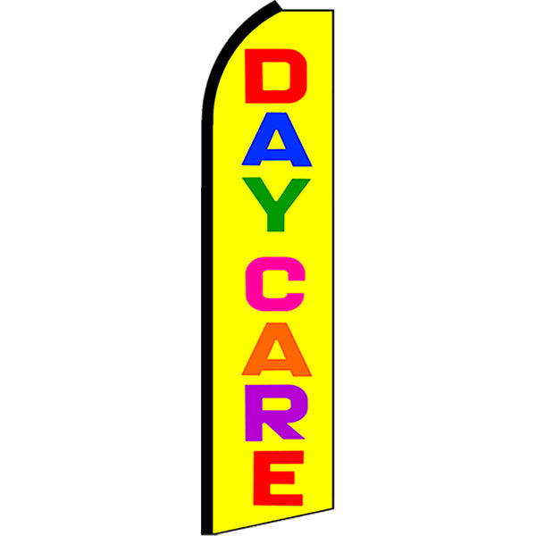 Daycare Flutter Feather Banner Flag with Bundle Option (2.5 x 11.5 Feet)