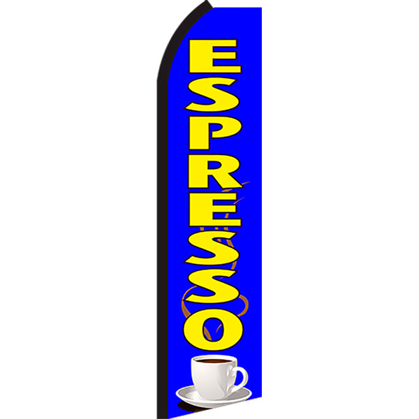 Espresso Flutter Feather Banner Flag with Bundle Option (3 x 11.5 Feet)