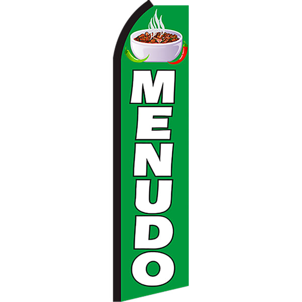 Menudo Flutter Feather Banner Flag with Bundle Option (2.5 x 11.5 Feet)