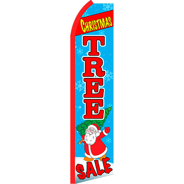 Christmas Tree Sale Flutter Feather Banner Flag with Bundle Option (2.5 x 11.5 Feet)