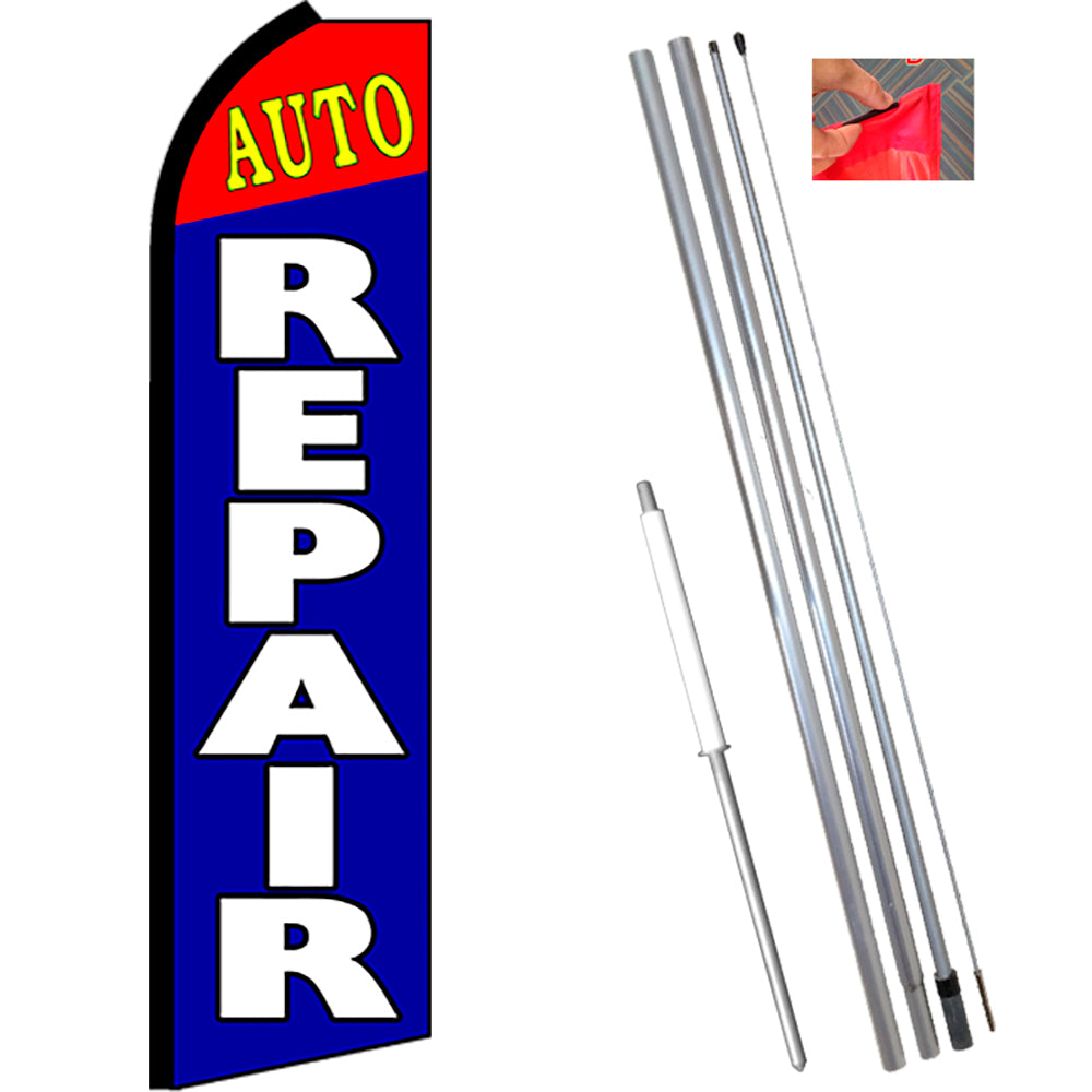 AUTO ALIGNMENT red//yel//chk 15 WINDLESS SWOOPER FLAGS KIT 5 five