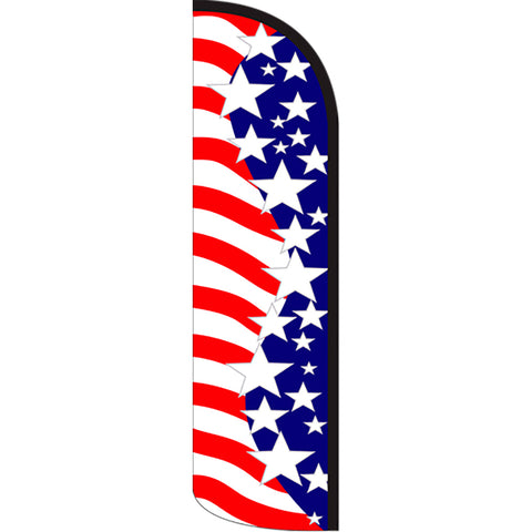 Star Spangled Windless Polyknit Feather Flag with Bundle Option (3 x 11.5 Feet)
