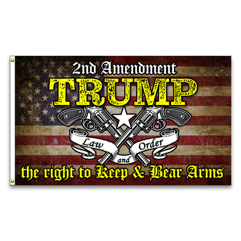 Trump 2nd Amendment Premium 3x5 Flag (Made in the USA)