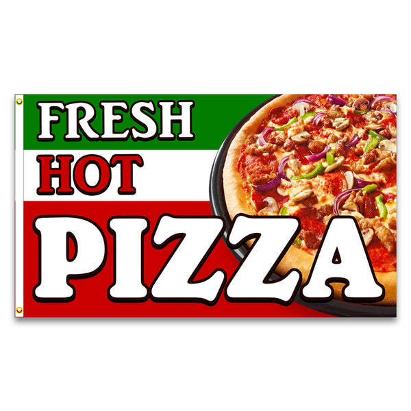 Fresh Hot Pizza Premium 3x5 Flag (Made in the USA)