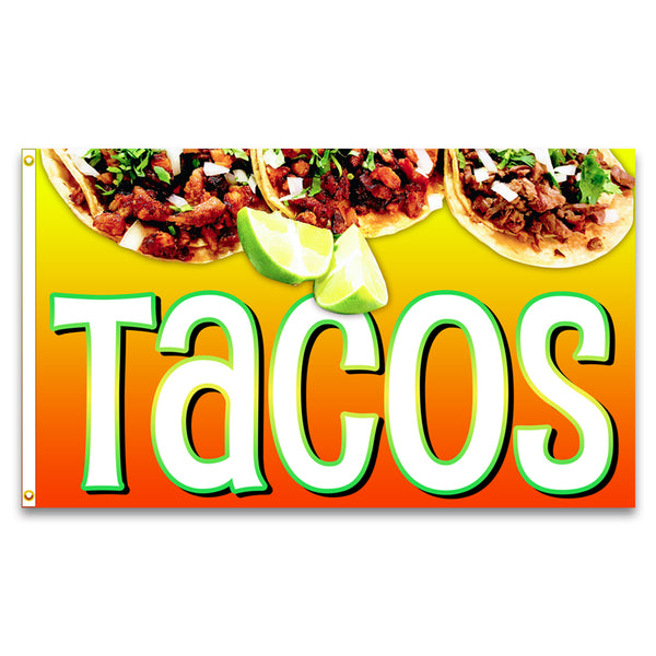 Tacos Premium 3x5 Flag (Made in the USA)