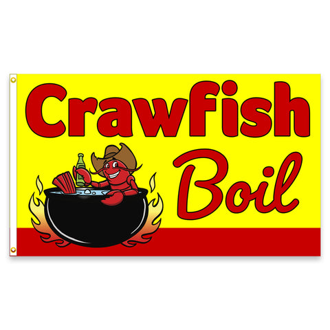 Crawfish Boil Premium 3x5 Flag (Made in the USA)