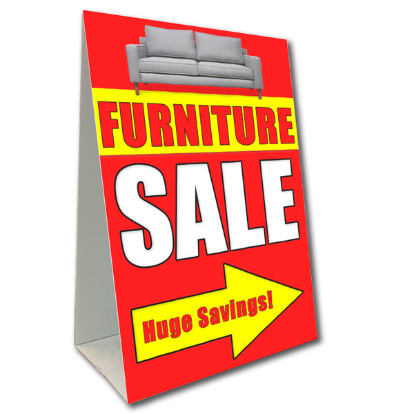 "Furniture Sale Economy A-Frame Sign 24"" wide by 36"" tall (Made in the USA)"