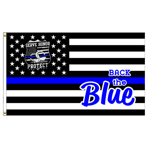 Back The Blue Premium 3x5 Flag (Made in the USA)