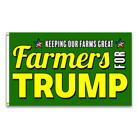 Farmers For Trump Premium 3x5 Flag (Made in the USA)