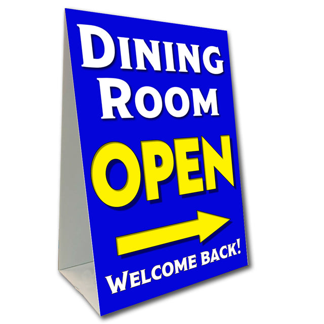 "Dining Room Open Economy A-Frame Sign 24"" wide by 36"" tall (Made in the USA)"