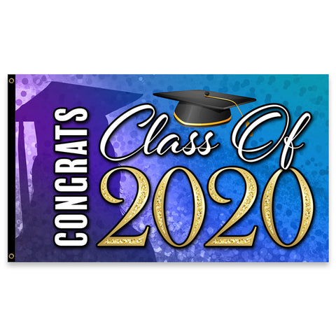 Congrats Class of 2020 Premium 3x5 Flag (Made in the USA)