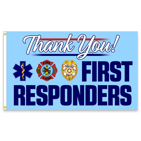 Thank You First Responders Premium 3x5 Flag (Made in the USA)