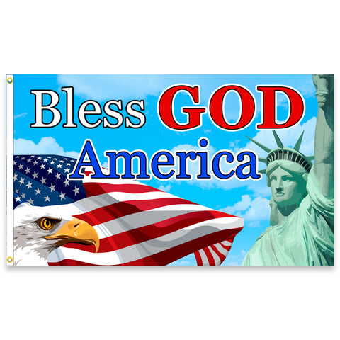 Bless GOD America (Made in the USA) Premium 3x5 Flag