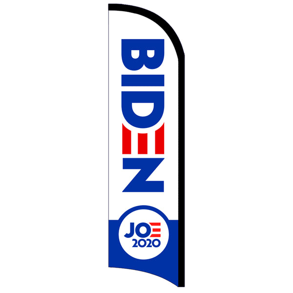 Joe Biden 2020 Premium Windless-Style Feather Flag Bundle 14' OR Replacement Flag Only 11.5'