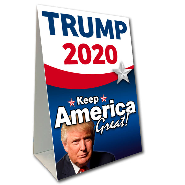 "Trump 2020 Economy A-Frame Sign 24"" wide by 36"" tall (Made in the USA)"