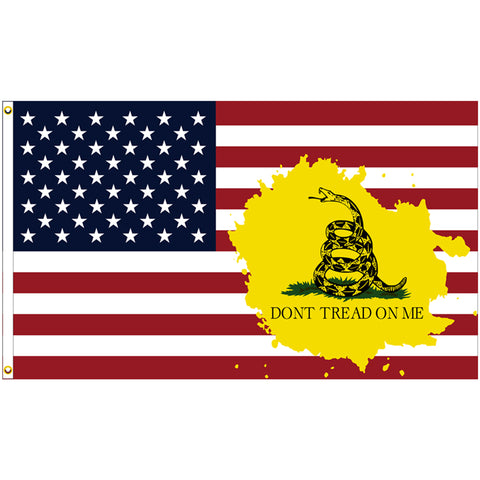 USA Don't Tread On Me (Gadsden) Premium 3x5 Flag