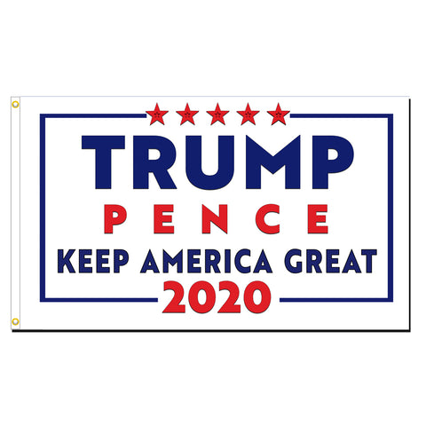 Trump Pence 2020 Keep America Great Premium 3x5 Flag