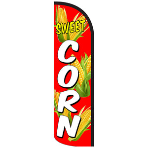 Sweet Corn Windless Feather Banner Flag with Bundle Option (3 x 11.5 Feet)